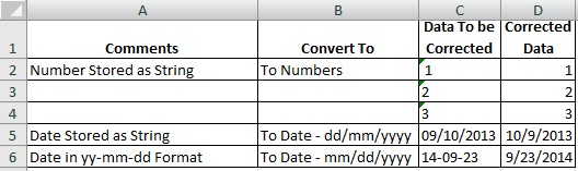 Excel convert String to Date or String to Number