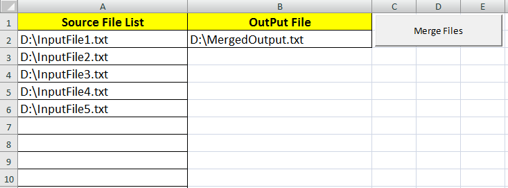 VBA Merge Text Files Excel Macro