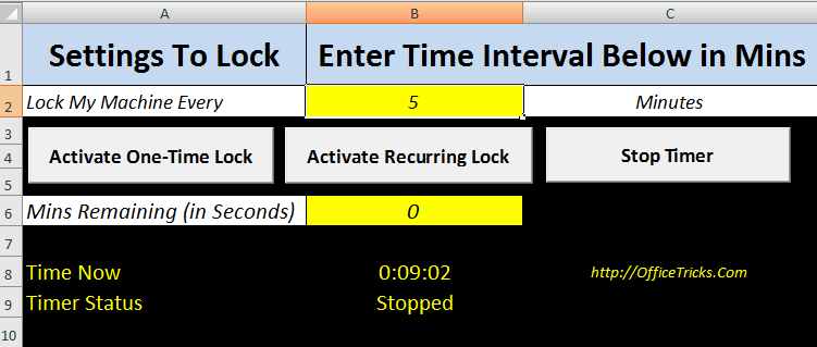Schedule and Lock Computer
