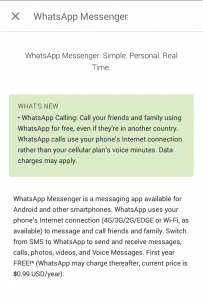Whatsapp Voice Call without getting activation call